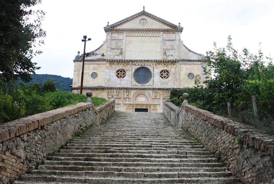 Spoleto - La chiesa di san Pietro